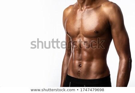 Imagen sin camisa encajar África tipo aislado Foto stock © stockyimages