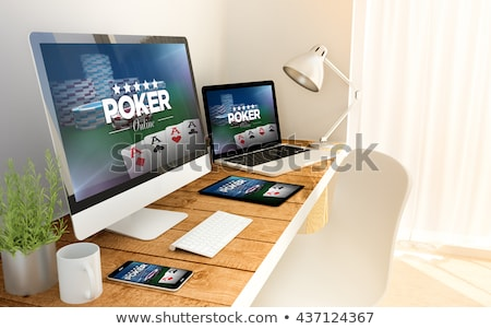Contenu table casino outils argent Photo stock © OleksandrO