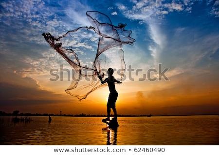 azul · mar · pescador - foto stock © ruslanomega