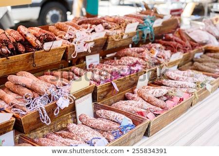 fransız · sosis · pazar · euro · fiyatlar · gıda - stok fotoğraf © timwege
