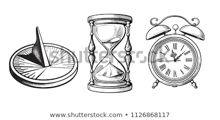 Horloge composer colorie peint design signe Photo stock © prill