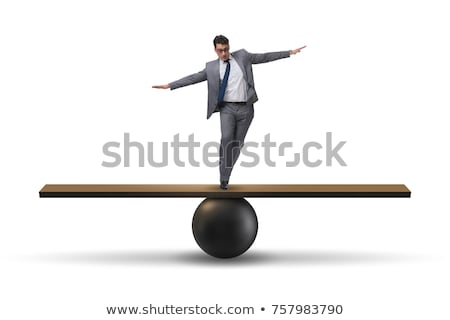 man balancing Stock photo © pancaketom