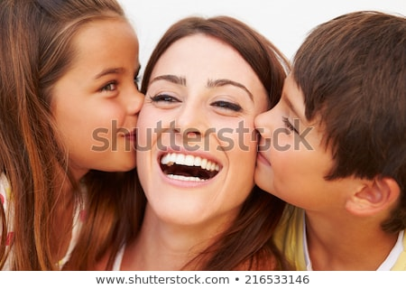 kiss for mother stock photo © lisafx
