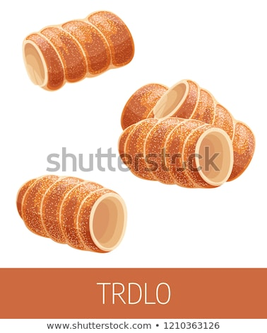 Trdelnik, czech cuisine Stock photo © stevanovicigor