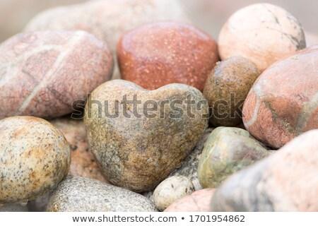 Zdjęcia stock: Heart Shaped Stones And Rocks
