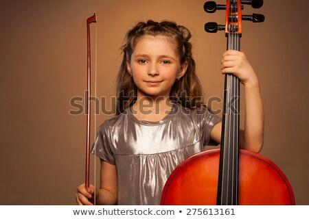 spelen · cello · speler - stockfoto © grafvision