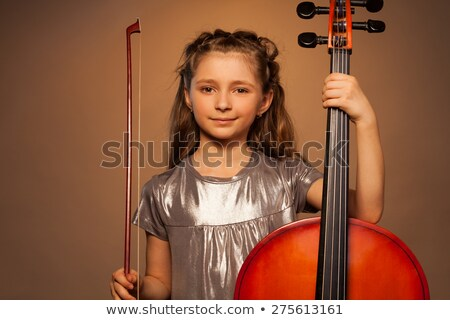 girl playing cello  Stock photo © grafvision