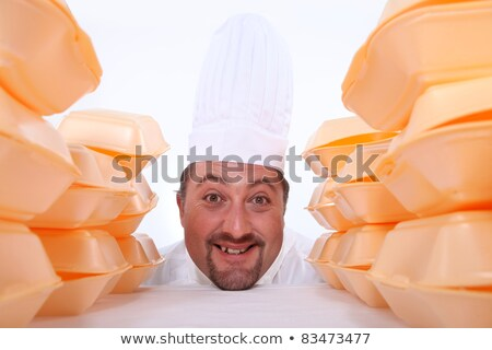 Chef surrounded by takeaway boxes Stock photo © photography33
