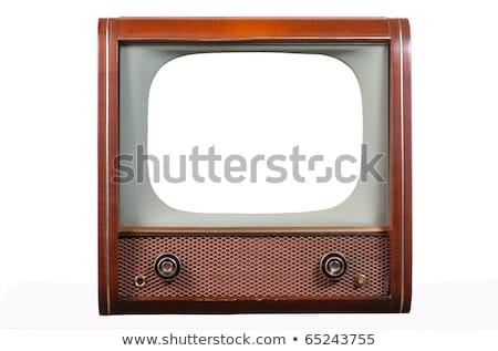 Elöl 1960-as évek öreg televízió fehér fa Stock fotó © ozaiachin