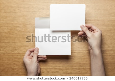 hand holding up the letter A from the top Stock photo © stryjek