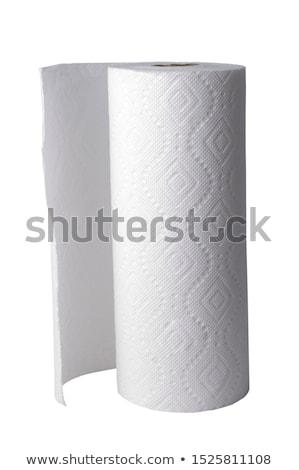 ストックフォト: ペーパータオル · ロール · 紙 · 白 · ナプキン · 国内の