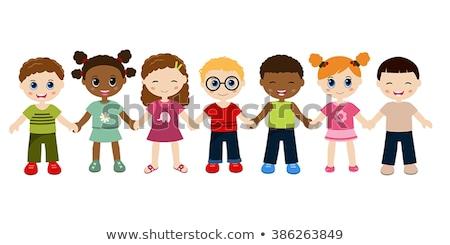 dzieci · strony · ziemi · rodziny · uśmiech - zdjęcia stock © creative_stock
