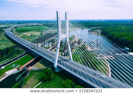Bâtiment nouvelle autoroute Pologne route construction Photo stock © linfernum