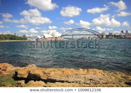 Sydney · porto · ponte · Sydney · Opera · House · pôr · do · sol · linha · do · horizonte - foto stock © sophiejames