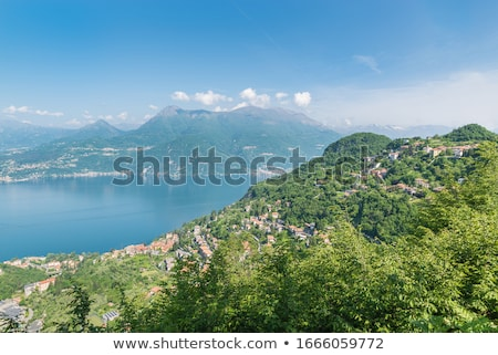 köy · göl · İtalya · üzerinde · doğa · dağ - stok fotoğraf © haraldmuc