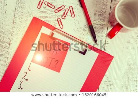 verandering · onmogelijk · mogelijk · zakenvrouw · Rood · zwarte - stockfoto © ivelin