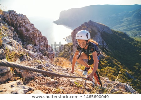 climbing on Via Ferrata Stock photo © Antonio-S