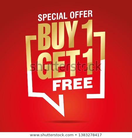 buy one get one free red banner Stock photo © marinini