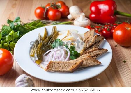 Hagyományos étel konyha zászló farm hús Stock fotó © antoshkaforever