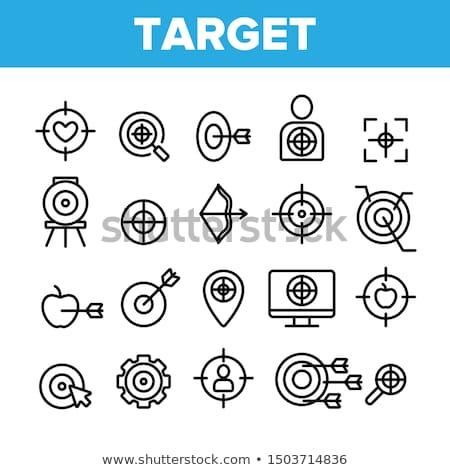 Archery pictogram on black background stock photo © seiksoon
