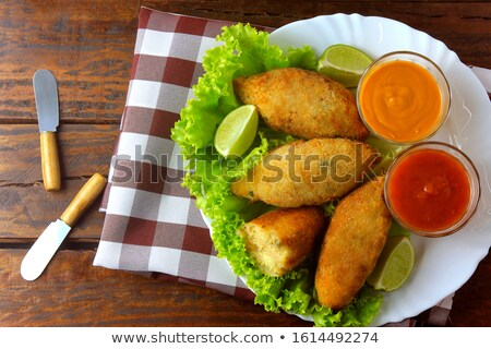 Conch Fritters and Parsley Stock photo © dbvirago
