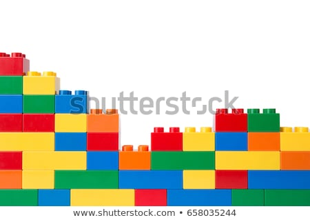 Lego. Red plastic building block. Stock photo © gladiolus
