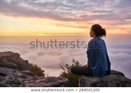 beautiful woman looks to the future stock photo © Pasiphae