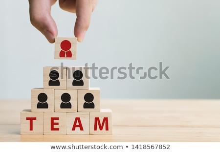 Csapat piramis rajz kép emberek készít Stock fotó © cteconsulting