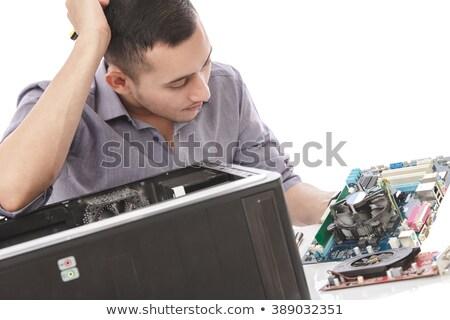 portré · zavart · számítógép · mérnök · processzor · alkatrészek - stock fotó © wavebreak_media