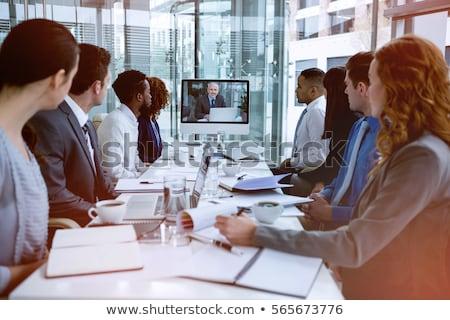 女性実業家 焦点 ノートパソコン 会議 オフィス コンピュータ ストックフォト © wavebreak_media