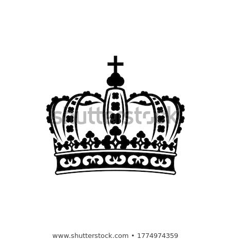 imperial crown in black and white Stock photo © Move_On