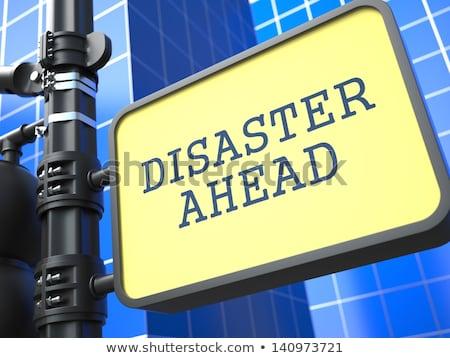 storm · ramp · verkeersbord · bedreiging · vernietiging · gevolg - stockfoto © tashatuvango