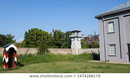 dikenli · tel · çit · konsantrasyon · kamp - stok fotoğraf © dinozzaver