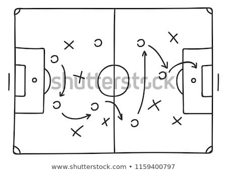 Táctica bordo icono textura fútbol campo Foto stock © shawlinmohd
