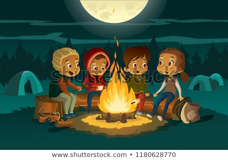 Foto stock: Scary Camping Stories