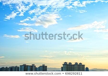 nuvem · blue · sky · sol · backlight · luz · halo - foto stock © lunamarina