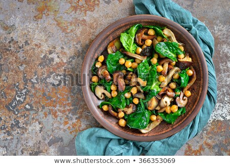 saláta · szezámmag · rakéta · levelek · paradicsom · hagyma - stock fotó © m-studio