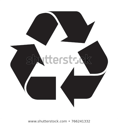 Reciclar papel vidro metal vermelho limpar Foto stock © adrenalina