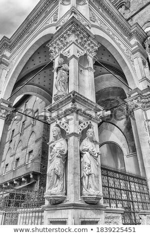 Siena Town Hall (Palazzo Comunale) detail Stock photo © aladin66