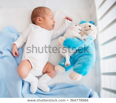 Baby crib and sheeps Stock photo © zzve
