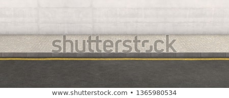 тротуаре искусства зданий Cityscape балкона арки Сток-фото © zzve
