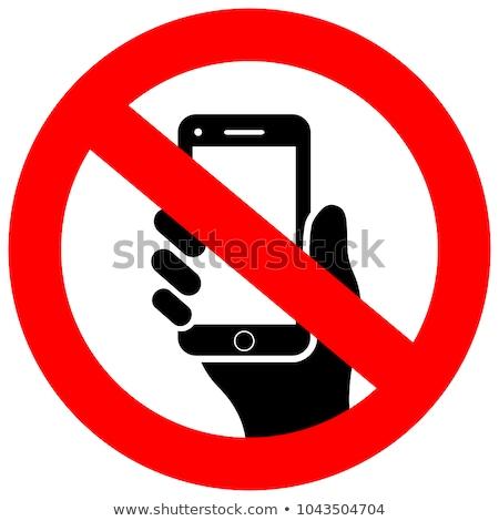 Vector icon mobiele telefoon verbieden Stockfoto © zzve
