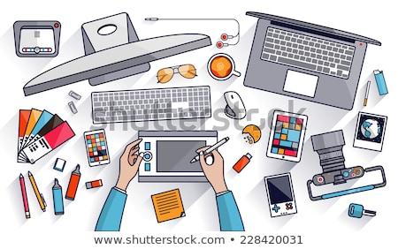 Clavier gestion conseils bouton orange Photo stock © tashatuvango