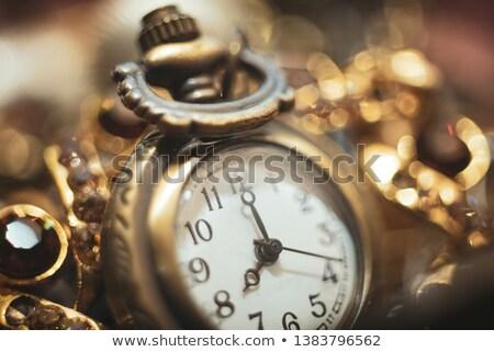 Keverék gyönyörű luxus ékszerek ezüst szövet Stock fotó © tannjuska