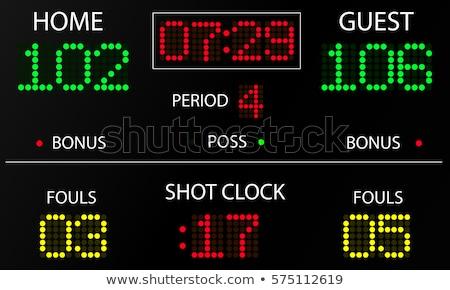 panel · kosárlabda · kék · ég · labda · fehér - stock fotó © xedos45