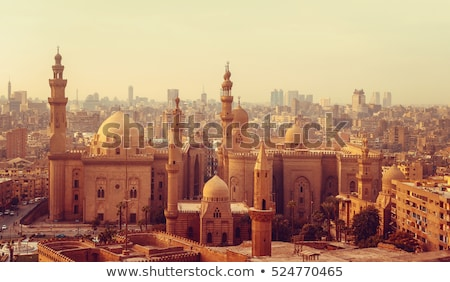cairo old town with mosques in egypt Stock photo © travelphotography