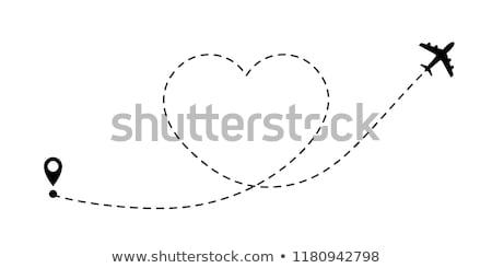 飛行機 シンボル 中心 孤立した 白 ストックフォト © smeagorl