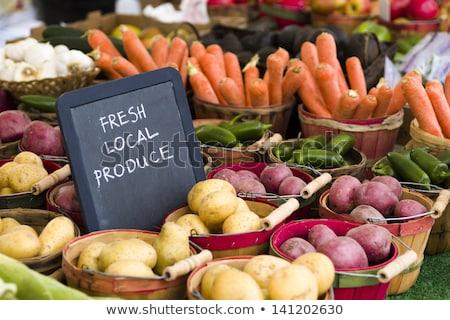 Patatas local mercado colorido alimentos grupo Foto stock © ryhor