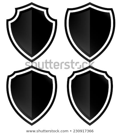 Stock fotó: Szett · különböző · izolált · fehér · csoport · fekete