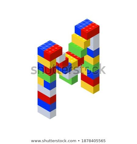 Letter M on Childrens Alphabet Block. Stock photo © tashatuvango
